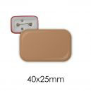 Badge rectangle 40 x 25 mm